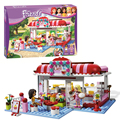 Bela 10162 Friends City Park Cafe building Blocks Bricks Toys Girl Game Toys for children House Gift Decool Lepin 3061