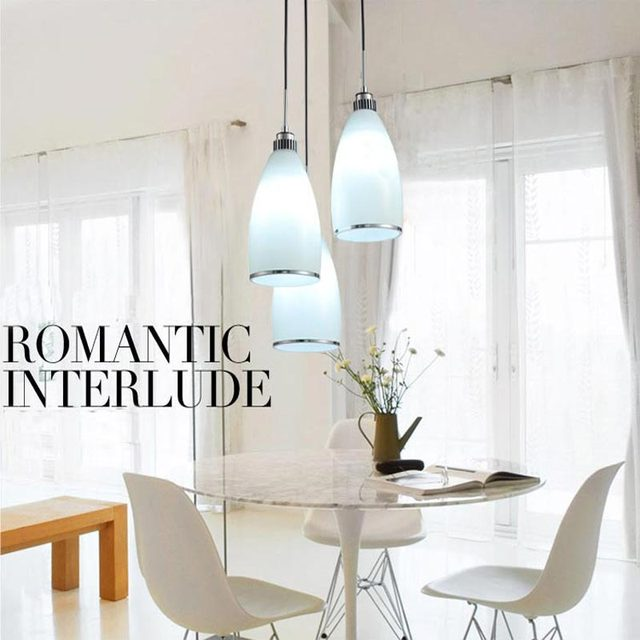 Modern Glass Pendant light Kitchen Cafe Fashion Decor Indoor Lighting White Lampshade Hanging Rope lamp E27 110-220v