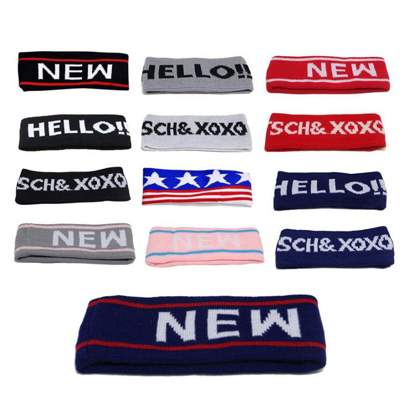 Sport Sweatband Absorbent Yoga Hairband Letter Printed Running Outdoor Fitness Headband Anti Sweat Hair Band 13 Colors optional