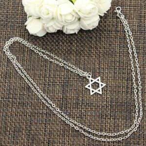 Новый Модный кулон Звезда Давида щит чокер очарование короткий длинный DIY ожерелье заводская цена ювелирные изделия ручной работы