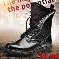 2016 Qualidade Superior Couro Genuíno Midcalf Botas de Deserto dos homens Martin Botas Casuais Nova Moda Preto Sapatos de Couro Homens Inverno 35-46