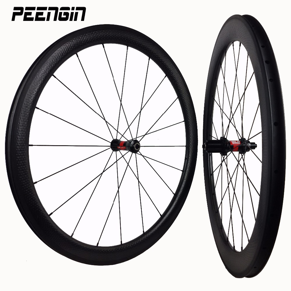 700C dimple carbon clincher 50mm golf bike aro rim 58mm wheelset 45 tubular oem bicycle 80mm wheels UD composite material suface