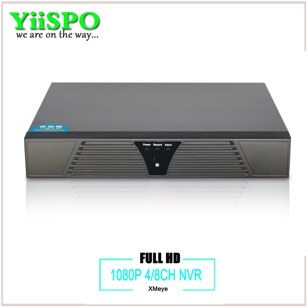 YiiSPO 4ch 8ch CCTV NVR for IP Camera Motion Detection ONVIF Full 1080P H 264 HDMI