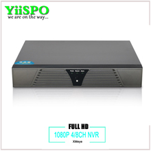 YiiSPO 4ch/8ch CCTV NVR for IP Camera Motion Detection ONVIF Full 1080P H.264 HDMI Output 4CH 8CH optional Surveillance System