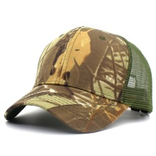 65ea21cf0bf Jungle Camo Net Mesh Baseball Cap Snapback Hat Men Women Adjustable Outdoor Camouflage  Visor Hat Airsoft