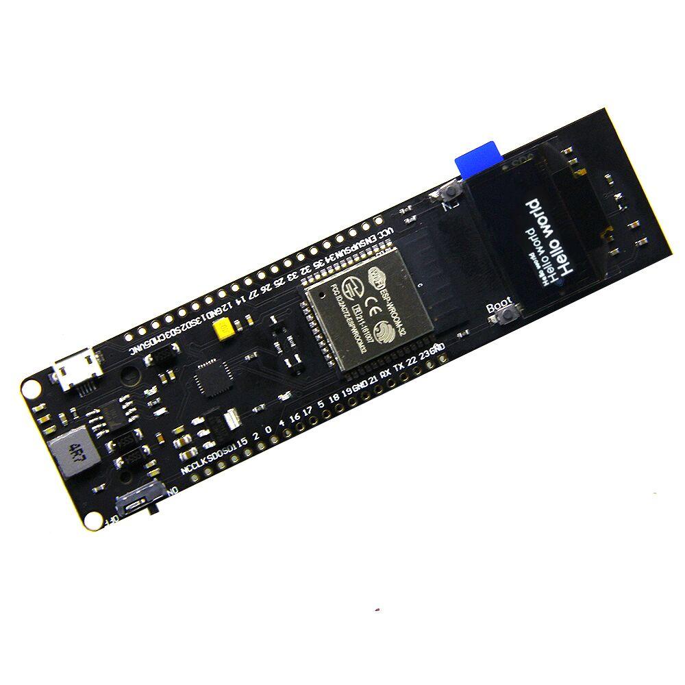 TTGO WiFi & Bluetooth Battery ESP32 0.96 inch OLED development tool