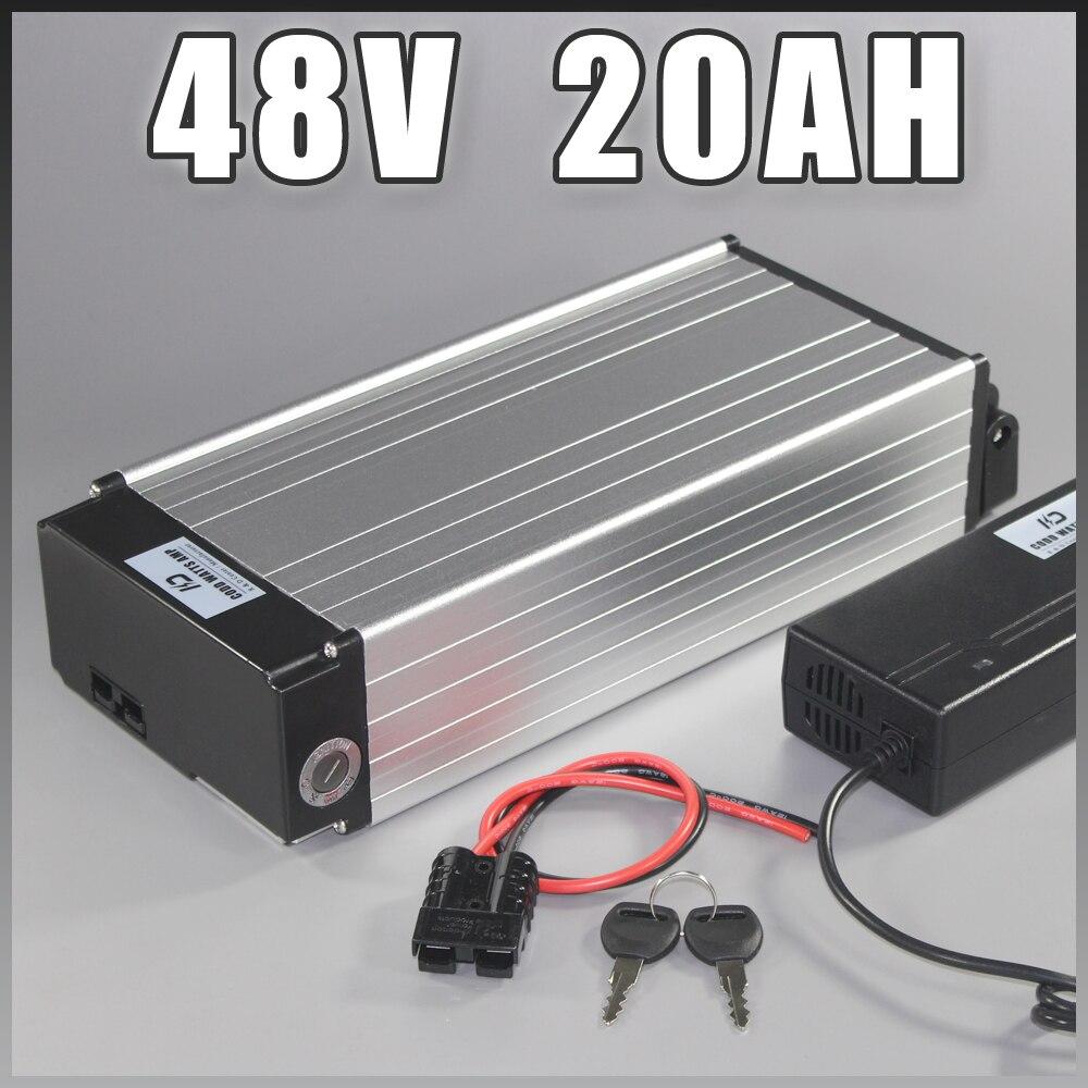 Batterie de vélo électrique 48 v 20ah Samsung ebike batterie arrière rack lithium ion avec 1000 W BMS EU US pas de taxe