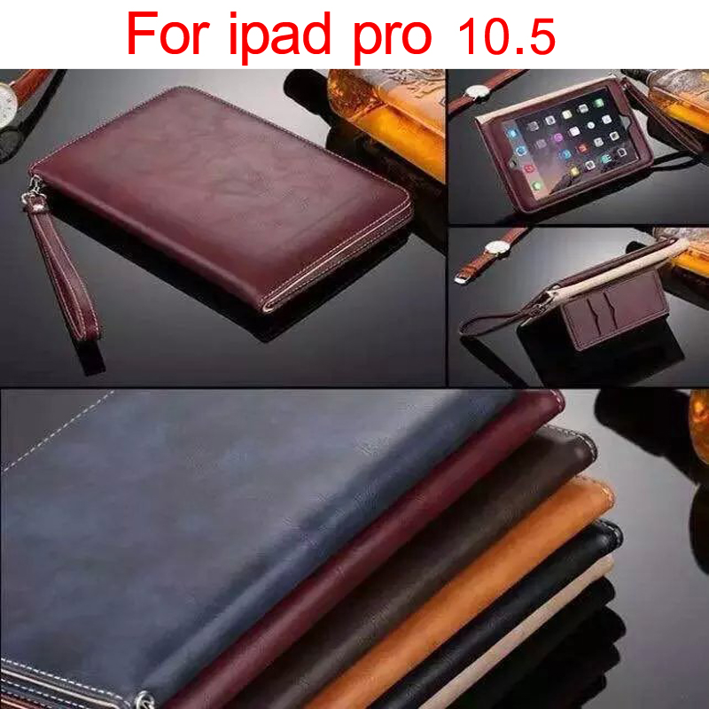2017 New Luxury cover case for apple iPad pro 10.5 hand holder strap business book case for iPad pro 10.5 free shipping 2017 new luxury cover case for apple ipad pro 10 5 hand holder strap business book free shipping