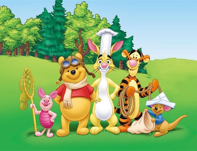 full diy square round diamond painting cartoon winnie the pooh