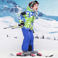 Winter Children Clothing Sets Thick Cotton Boys Ski Suit Warm Fleece Jackets+Bib Pants 2pcs Boys Clothing Set