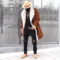 2018 New Winter Wool Coat Men Leisure Long Sections Woolen Coats Men's Pure Color Casual Fashion Jackets Casual Men Overcoat
