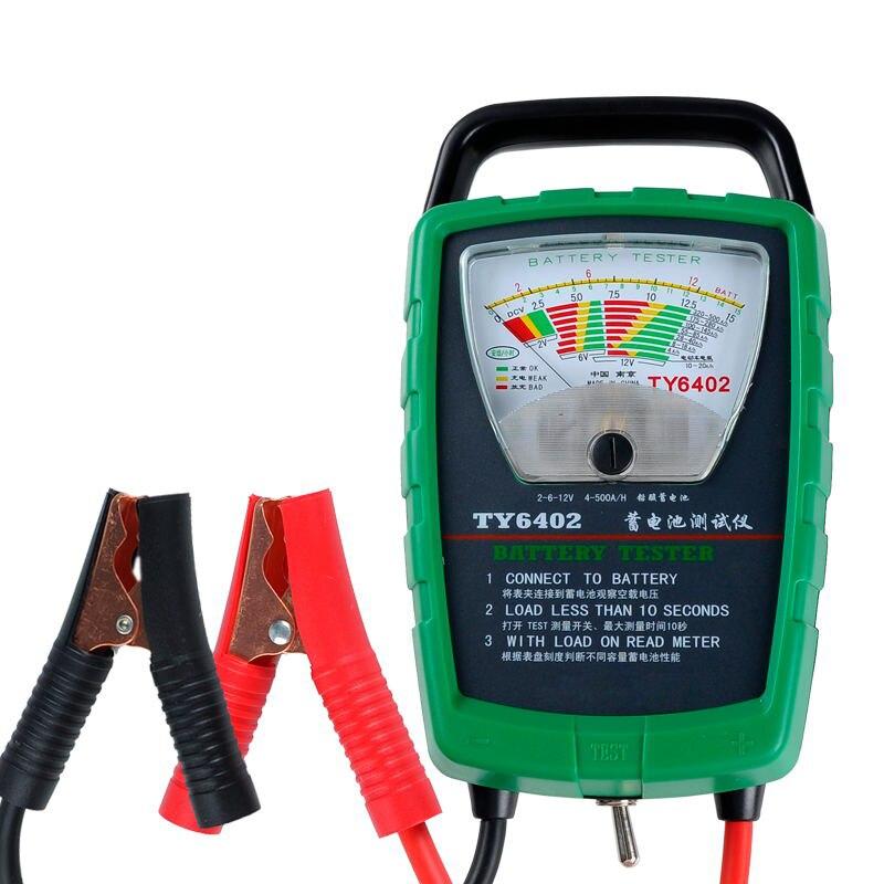 TY6402 500A 2V 6V 12V Automotive/ Car Battery Tester/ Alternator/ Cranking Check Car Diagnostic Tool Auto Battery Tester For Car