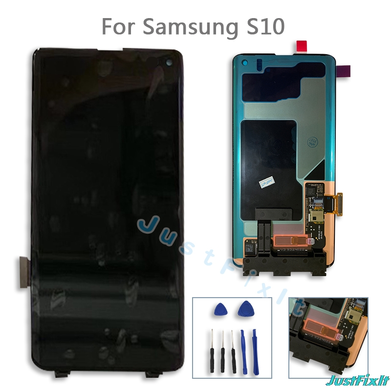 Original For Samsung Galaxy S10 2019 SM G9730 G973F LCD Display Touch Screen Digitizer Super Amoeld