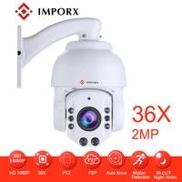 Full HD 1080P Mini PTZ IP Camera 2MP Small 36X Zoom Mini Speed Dome IP Camera Waterproof P2P H.264 CCTV Security IP Camera