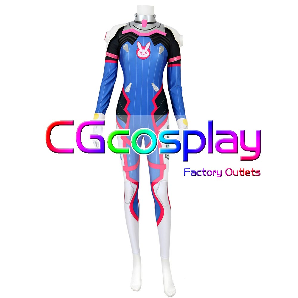 CGCOS Express Shipping DVA D.va Jumpsuit Game Cos Cosplay