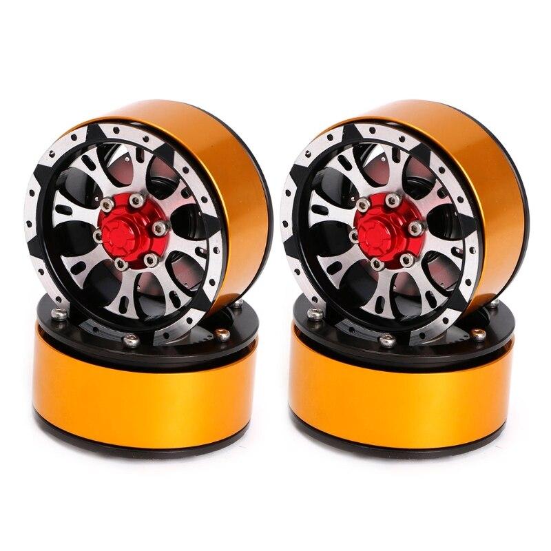 4Pcs Metal 1 9 Inch Beadlock Wheel Rim for RC Rock Crawler Axial SCX10
