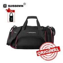 Viagem saco masculino saco de viagem leve de grande capacidade swisswin saco do mensageiro saco de ombro das mulheres grande mochila portátil carry-on swe1031