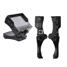 """Dobrável 4.3 """"TFT LCD MONITOR TESTER CCTV Segurança Vigilância CAMERA Vedio TESTE de Áudio DC 12 V Saída de Cabo RJ45"""