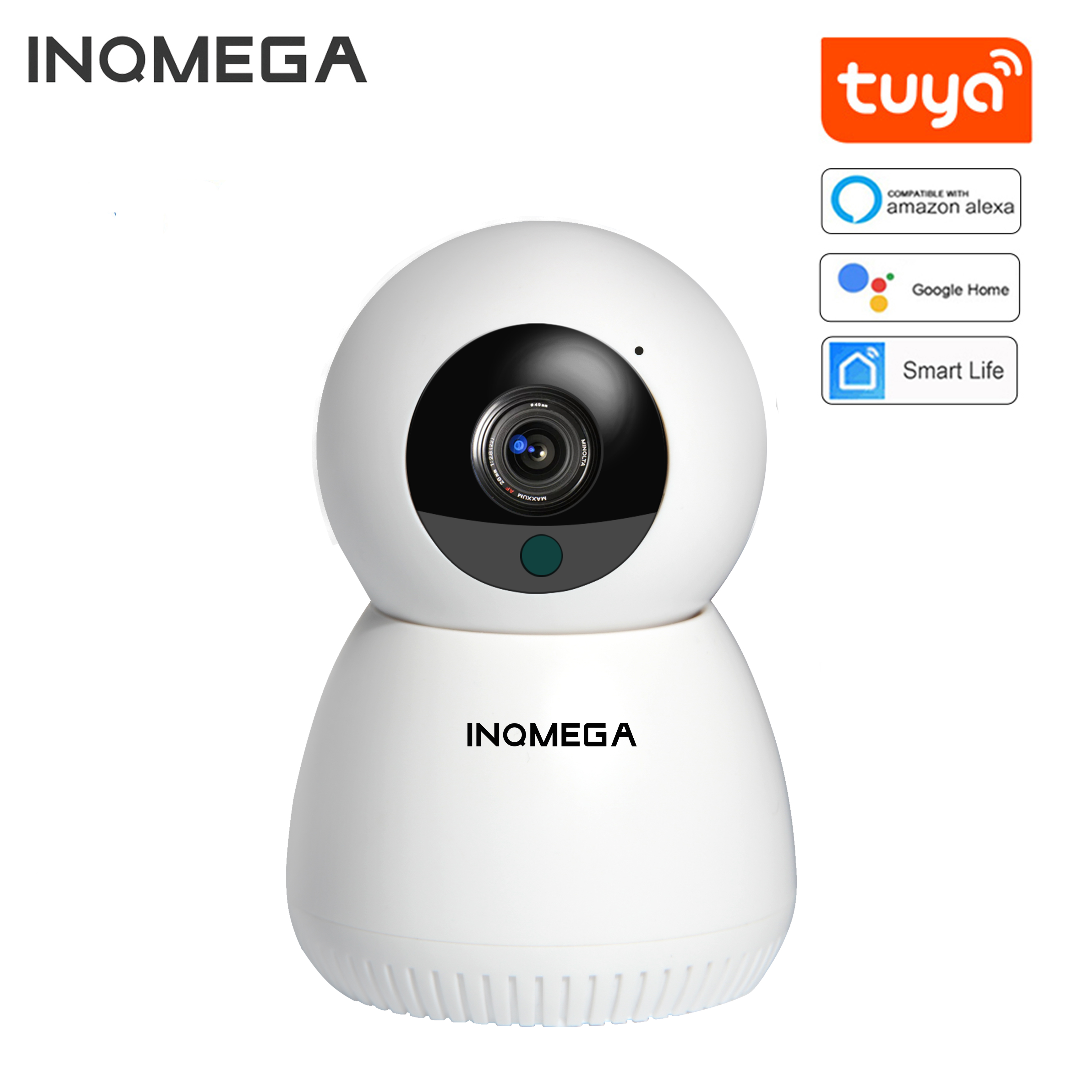 INQMEGA 1080P 720P IP Camera WiFi Wireless Mini Smart Home Security CCTV  Camera Two-way Audio Night Vision Baby Monitor APP TUYA