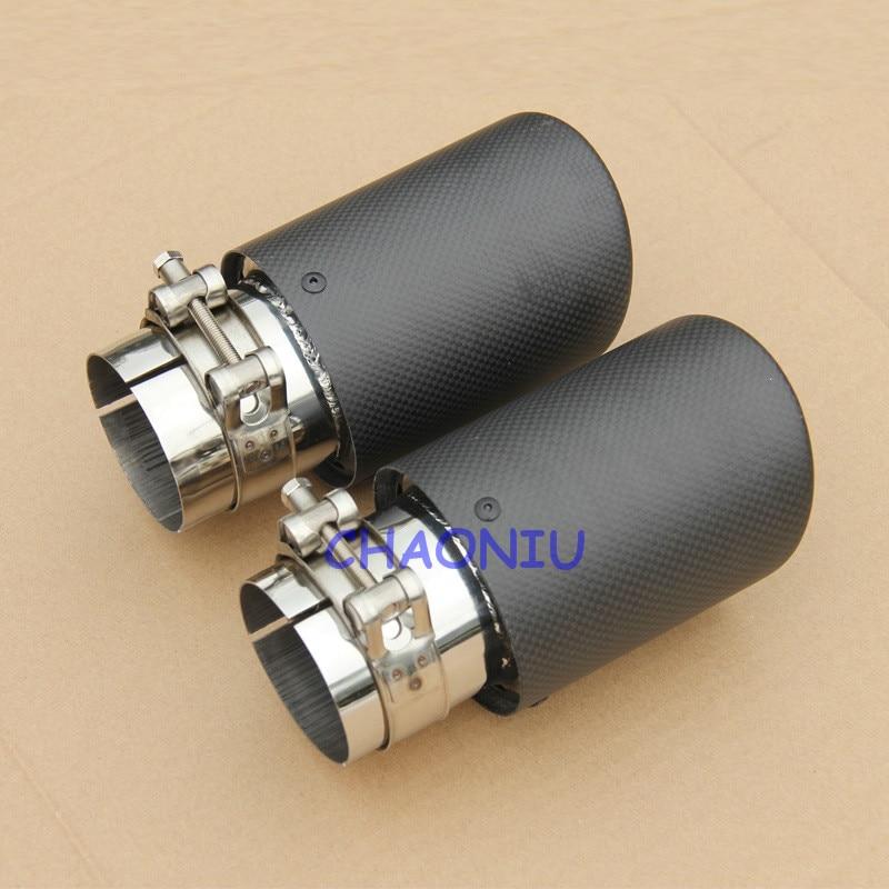 12 sizes carbon fiber 10 pcs car exhaust tip Universal Carbon Fiber Car Exhaust Pipe Tail Muffler Tip