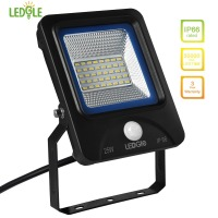 LEDGLE 25W LED Flood Lights Motion Sensor Floodlights Waterproof LED Wall Washer Daylight White IP66 Waterproof