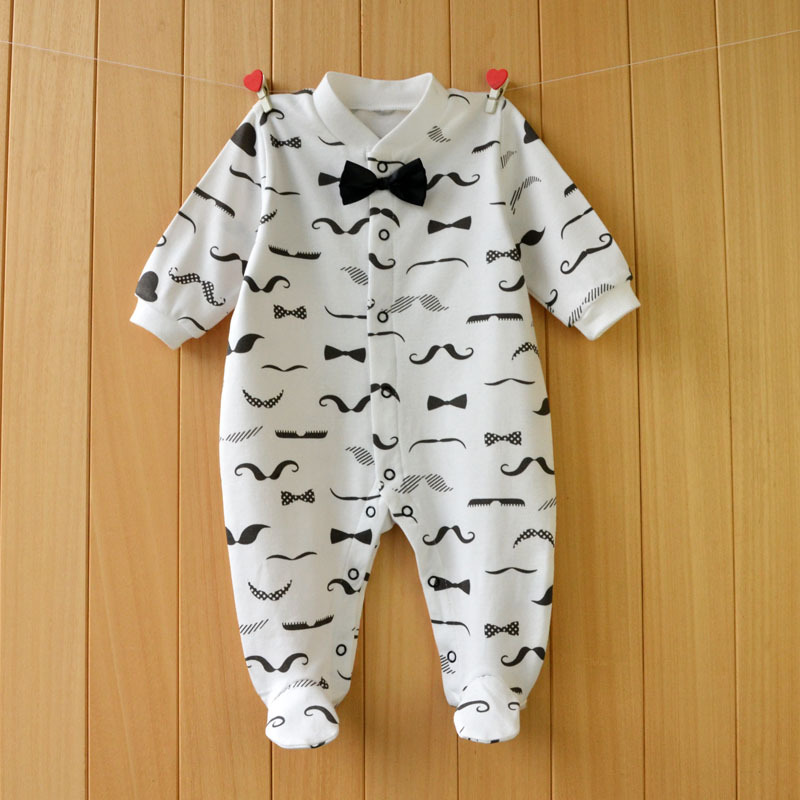 2017 New spring cartoon baby rompers cotton 100% girls and boys clothes long sleeve romper Baby Jumpsuit newborn baby Clothing geometric print color block splicing v neck long sleeve sweater