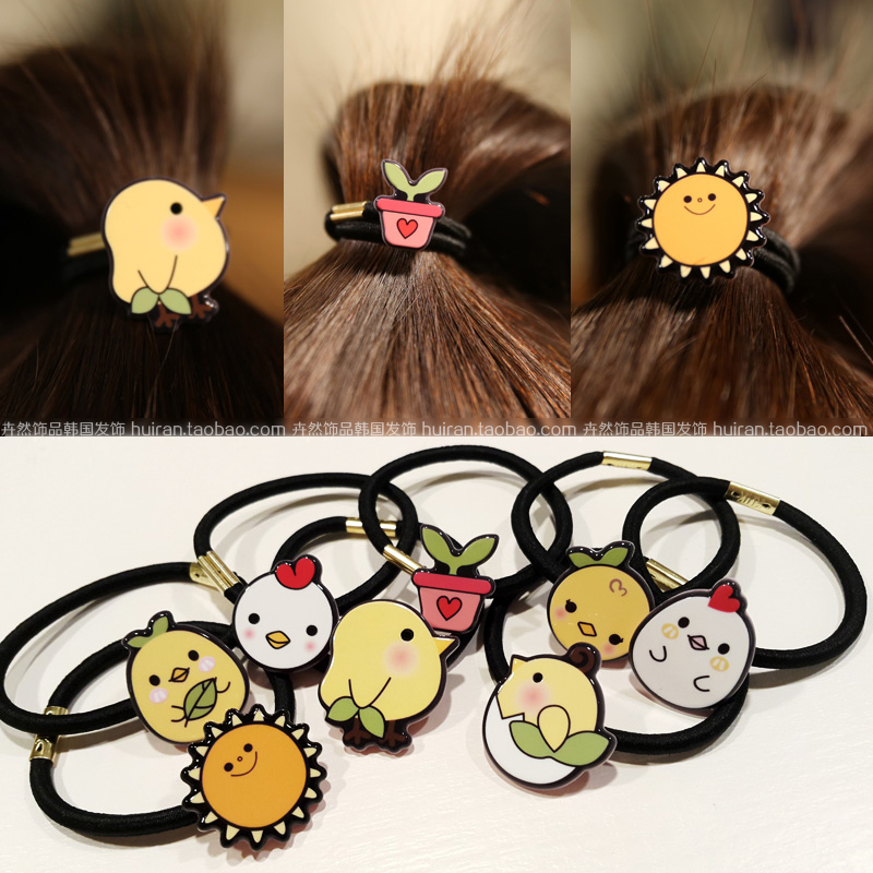 M MISM New Korean Cartoon Fashion cute Women Hair Accessories Cute Black Elastic Hair Bands Girl band Hair Rope Gum Rubber Band m mism new arrival korean style girls hair elastics big bow dot flora ponytail rubber hair rope hair accessories scrunchy women