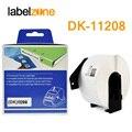 1 рулон DK-11208 38 мм x 90 мм термальная бумага совместима с принтером Brother Label белая бумага DK11208 DK бумага 208 для QL-500