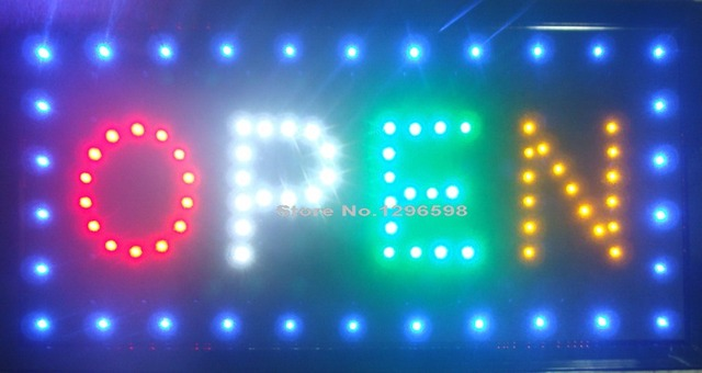 2017 Ultra Bright LED Neon Light Animated led open signs indoor of led shop open sign