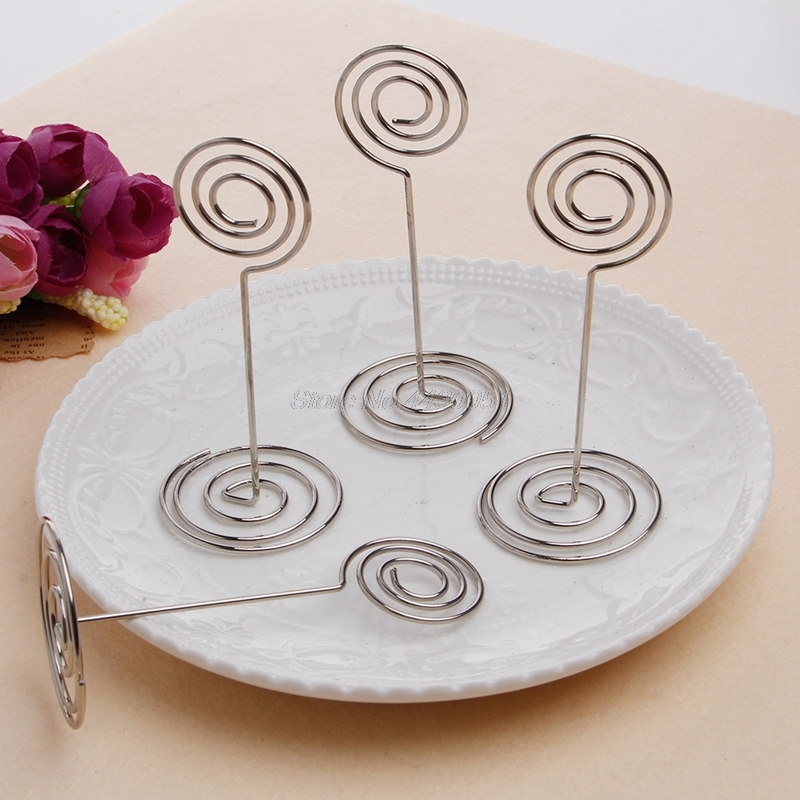 10Pcs/set Wedding Favors Place Card Holder Table Photo Memo Number Name Clips Base wedding party place favor personalized gift image