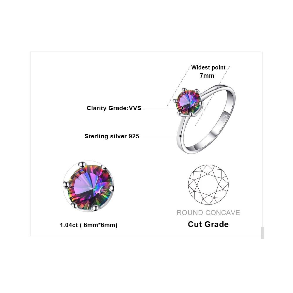 JewelryPalace mistik yanğın göy qurşağı topazları üzük - Moda zərgərlik - Fotoqrafiya 5