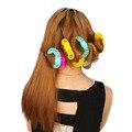8 шт./упак. Горячие взрыва donut бигуди не больно волос керлинг волос самоклеящиеся пластиковые небольшой инструмент волосы Ролики