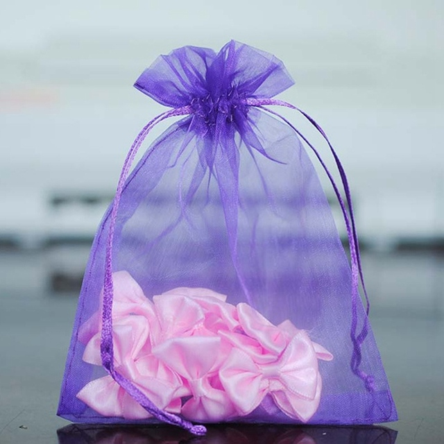 New 100pcs Lot Bonbonniere Wedding Candy Bags Organza Sachet Sweet Bag Bo
