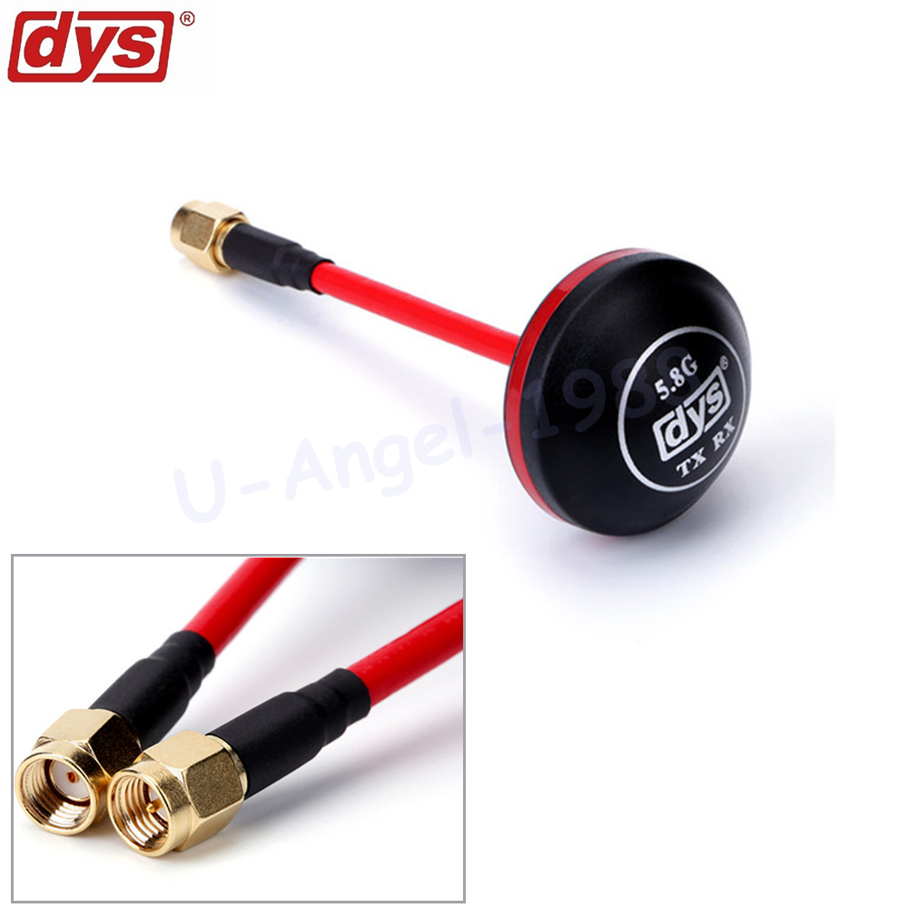 1pcs DYS FPV 5.8G Antenna 4dBi Mushroom Antenna RHCP TX RX SMA RP-SMA Male For FPV Multicopter 1 pair fpv 5 8g rp sma male mushroom antenna gains fpv aerial photo antenna for tx & rx