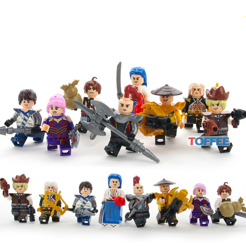 8pcs King of Glory Figures One of China Romance of the Three Kingdoms Anime Building Blocks Educational Toy for children heroes a knight of the seven kingdoms