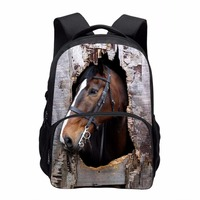 Fashion Thermal Lunch Bags 3D Animal Horse Printing Lunchbox Children Picnic Lancheira Termica Lunch Box Students