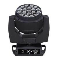 Neue Große Biene Auge led moving head zoom funktion DMX 512 waschen licht RGBW 4IN1 19x15 watt Strahl wirkung licht party/bar/DJ/bühne lightting