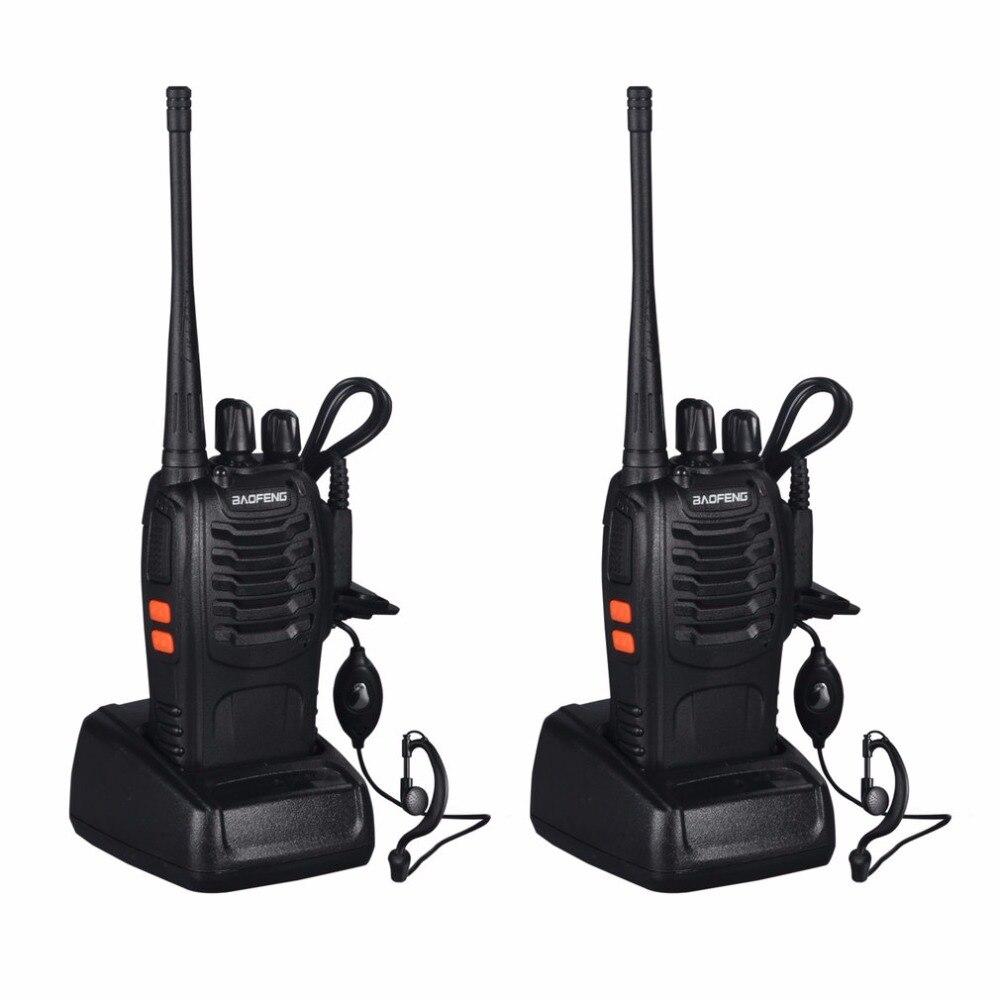 Baofeng BF-888S 2 stücke Walkie talkie 5 Watt 16Ch VHF/UHF FM Transceiver 400-470 MHz Wiederaufladbare Taschenlampe mit Headset 2-wege-radio