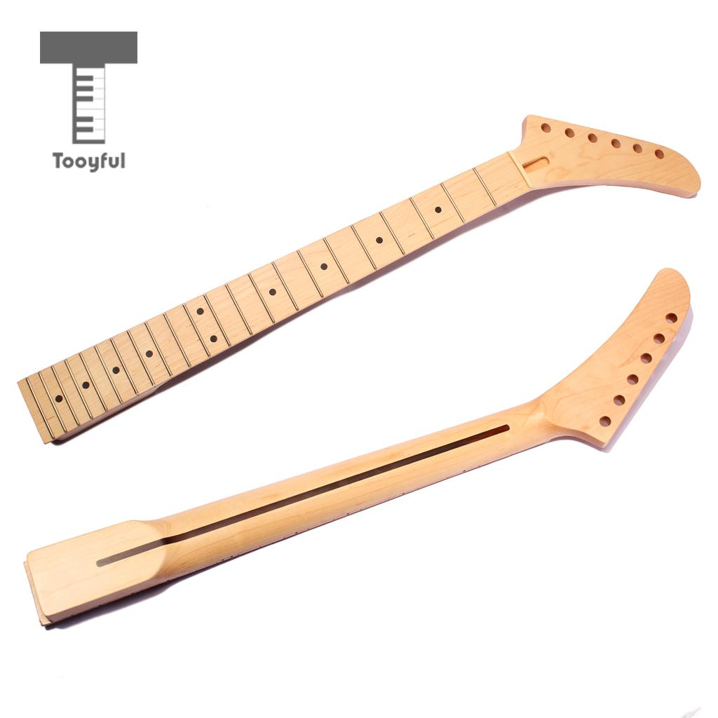 Tooyful Instrument Accs DIY Maple Wood Neck Fretboard Fingerboard for Jackson Guitar jackson usa rr1 randy rhoads ebony fretboard snow white w black pinstripes