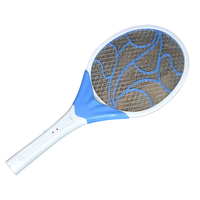 3 Layers Net Rechargeable LED Lighting Safe Electric Swatter Pest Control Insect Bug Bat Wasp Zapper