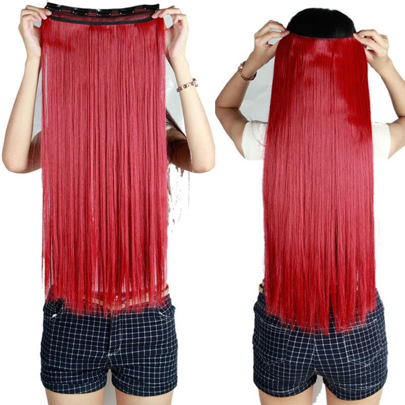 1pc straight hair extension blonde brown purple 2666cm women 1pc straight hair extension blonde brown purple 2666cm women synthetic hair fiber natural clip in hair extensions 28 on aliexpress alibaba group pmusecretfo Gallery
