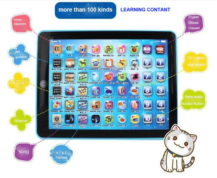 Hot Sale Kids Children Tablet IPAD Educational Learning Toys Gift For Girls Boys Baby Learning Machine Educational Teach Toy image