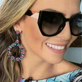 2018 New Oversized Butterfly sunglasses women brand designer Round womens glasses fashion Cat Eye ladies UV400