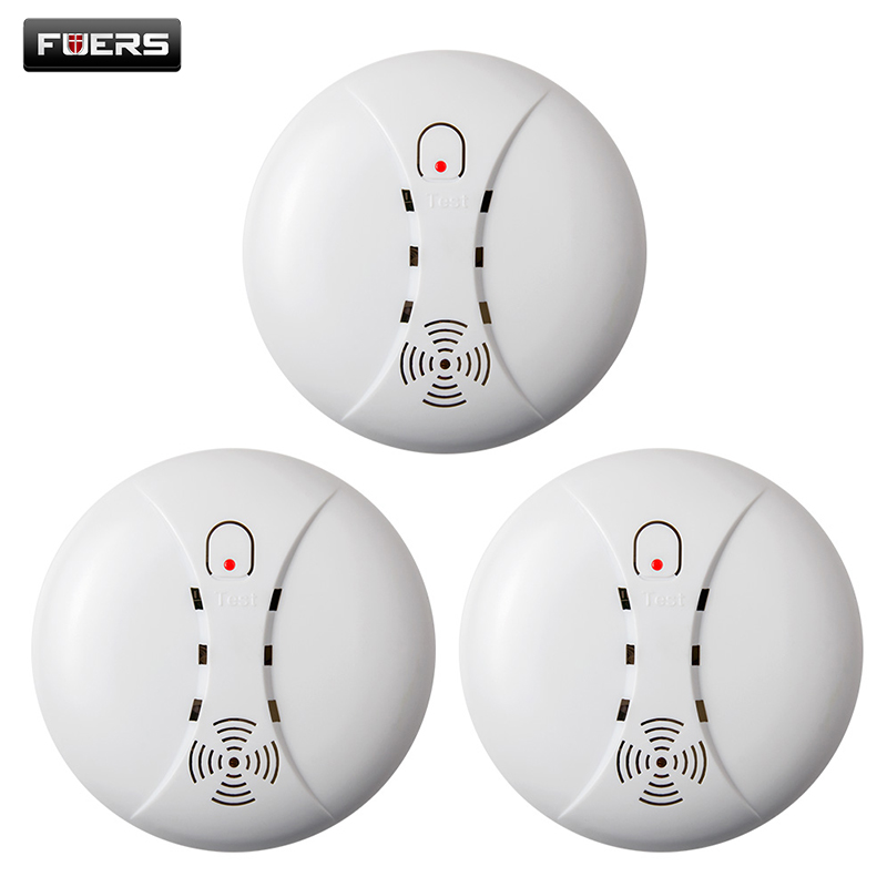 3 pcs Wireless Smoke Smart Alarm System Alarm Accessories Sensitive Fire Detector For GSM Security Home Alarm System Cordless yobangsecurity wifi gsm gprs home security alarm system android ios app control door window pir sensor wireless smoke detector