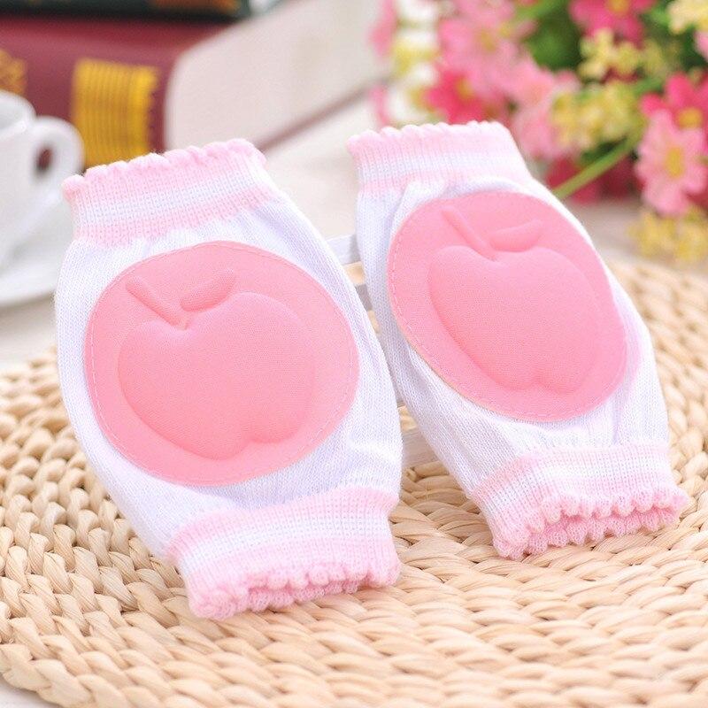 BalleenShiny Fruit Pattern Baby Crawling Knee Pads For Grils Boys Children Anti Slip Protector Mesh Cushion Cotton Kids Kneecaps