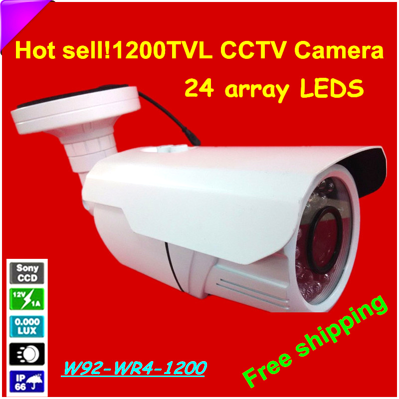 High Quality HD 1/3 Sony CCD CCTV Camera 1200TVL 24 array LEDS 2.8-12mm zoom CCTV Surveillance Camera Waterproof IR Camera удлинитель zoom ecm 3
