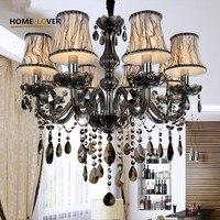 New Modern Led Crystal Chandeliers For Kitchen Room Livingroom Bedroom Gray Color K9 Crystal Lustres De