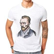 Hot Sale Mens T Shirts Fashion Cotton Short Sleeve O Neck T-Shirt Van Gogh Printing Hipster Tees Playeras De Hombre
