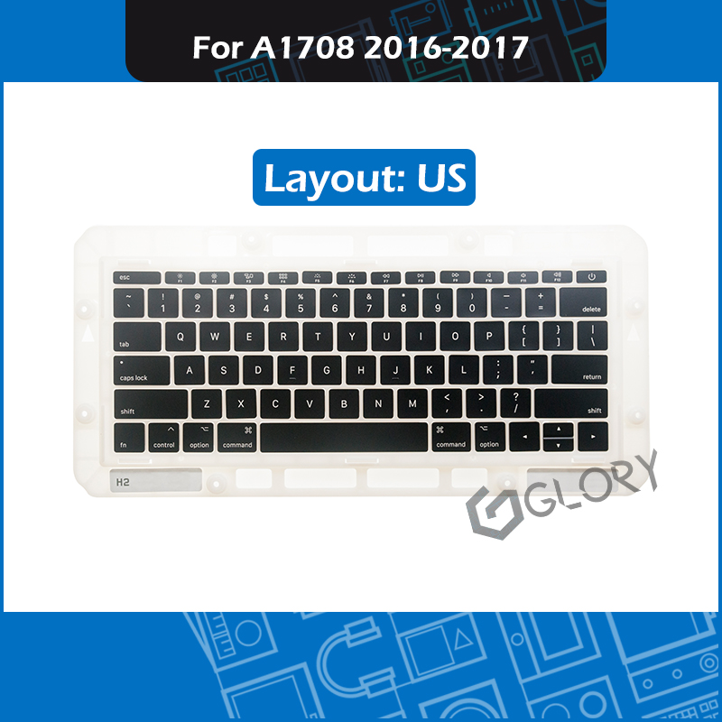 New Laptop A1708 Keycaps US Layout for Macbook Pro Retina 13 A1708 Keyboard Key cap Replacement Late 2016 Mid 2017 image