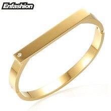 Enfashion noeud barra plana pulsera al por mayor brazalete de oro brazalete de la pulsera para las mujeres cuff pulseras brazaletes pulseiras manchette